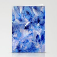 Blue Plumes Stationery Cards