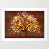 Starry Tree Art Print