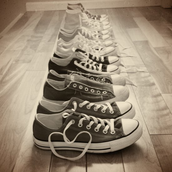 Converse Is Love B&W Art Print