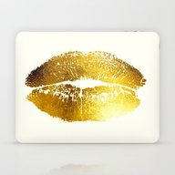 Lips Gold Laptop & iPad Skin