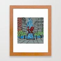 Little Love Park Sketch Framed Art Print