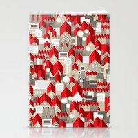 red roofs Stationery Cards