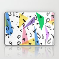 80s Memphis Inspired print with arabic font Laptop & iPad Skin