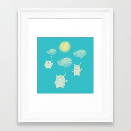 Bears In The Airs Framed Art Print