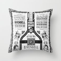 Lord of the Rings Rivendell Vineyards Vintage Ad Throw Pillow