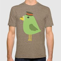 Parrot Stalin Mens Fitted Tee Tri-Coffee SMALL