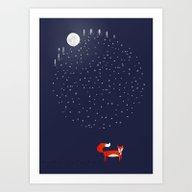 Art Print featuring Fox Dream by Elenor