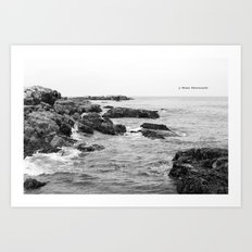 When waves crash in Art Print