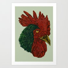 cock-a-doodle-Boo! Art Print