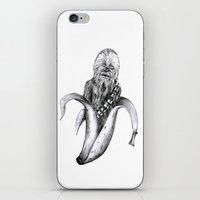 iPhone & iPod Skin featuring Chewbacca banana by ronnie mcneil