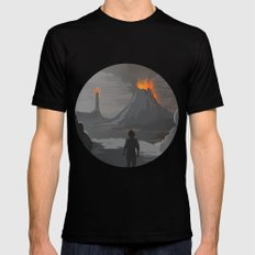 Lord Of The Rings Black SMALL Mens Fitted Tee
