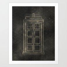 Doctor Who: Tardis Art Print