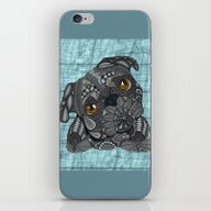 Cute Black Pug iPhone & iPod Skin