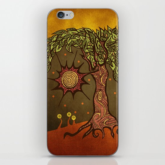 "Mystic tree Dia by Pom Graphic Design & Viviana Gonzalez"" iPhone & iPod Skin"