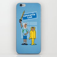 Community Time! iPhone & iPod Skin