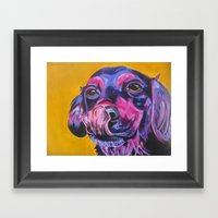 Samantha's Tongue Framed Art Print