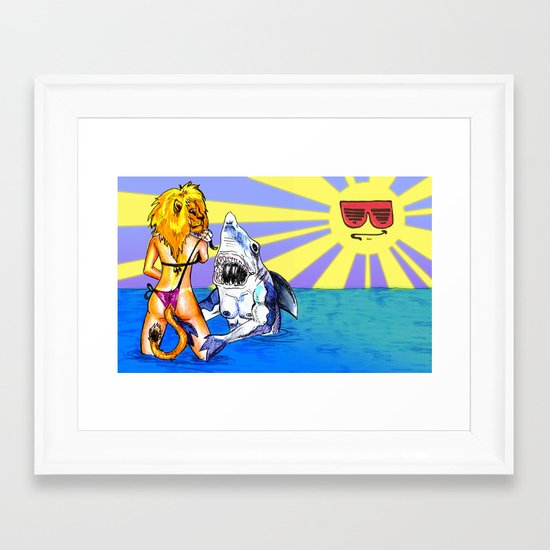 """Stay Calm"" by Kristin Frenzel & Cap Blackard Framed Art Print"
