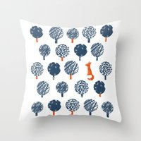 Lost In The Woods ( A Fo… Throw Pillow