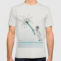 Dandelion  Mens Fitted Tee Silver SMALL