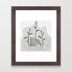 where the salamanders live. Framed Art Print