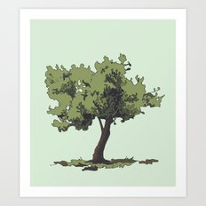 Life is Beautiful Olive Tree Art Print