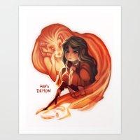 Ava's Demon Art Print