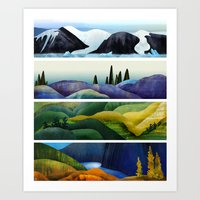 Canada In Landscapes Art Print