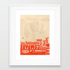Less rubbing with DuPont Framed Art Print