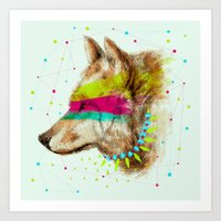 Cherokee Wolf II Art Print