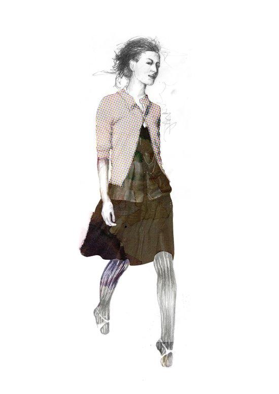 catwalk 1 Art Print
