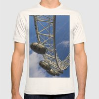 The London Eye Mens Fitted Tee Natural SMALL