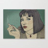 Mia (Mia Wallace Pulp Fi… Canvas Print