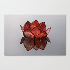Glass Blossom on Water Canvas Print