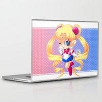 sailor moon Laptop & iPad Skins featuring Sailor Moon by Corpse Cutie