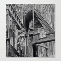 English Gothic (Halftone) Canvas Print