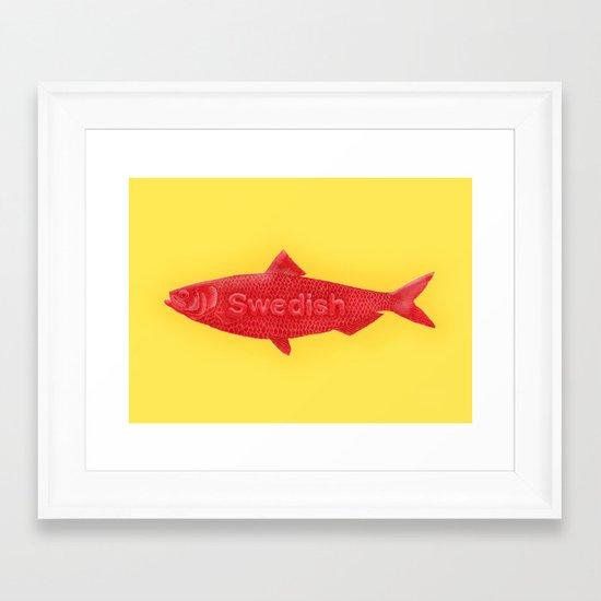 Swedish Fish Framed Art Print