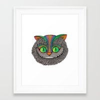 Alice´s cheshire cat by Luna Portnoi Framed Art Print