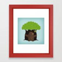 LOVE TREES Framed Art Print