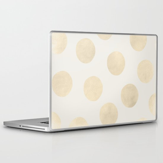 Gold Polka Dots Laptop & iPad Skin
