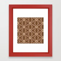 Leopard Kaleidoscope Wild Animal Print Framed Art Print