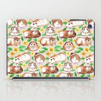 Guinea Pigs and Daisies in Watercolor iPad Case