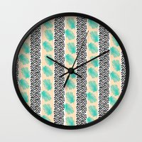 Palm Leaf Abstract Wall Clock