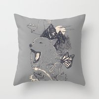 Northern Americana  Throw Pillow