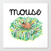 Theatre Mouse Canvas Print