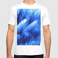 feathers White Mens Fitted Tee SMALL