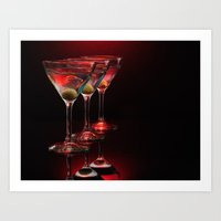Red Hot Martinis. Art Print