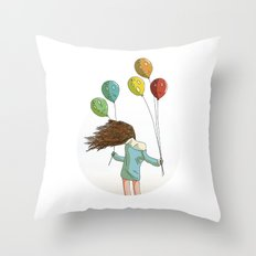 Baloons on wind Throw Pillow