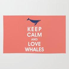 Keep Calm and Love Whales Rug
