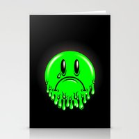 Slimey - neon green Stationery Cards