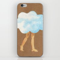 Cloud Girl iPhone & iPod Skin